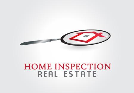 House inspection illustration symbol graphic
