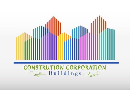 modern colorful buildings construction company design