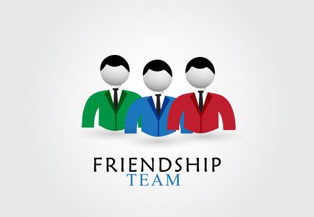 Friendship team vector design