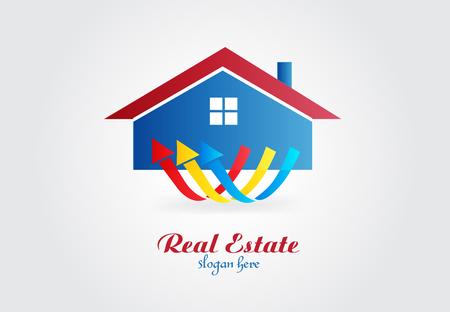 real estate house vector design template
