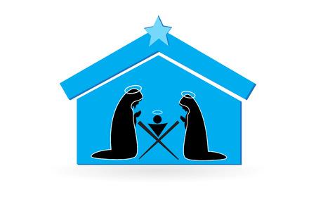 Christmas Nativity scene vector image design