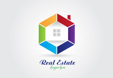 real estate house vector image design