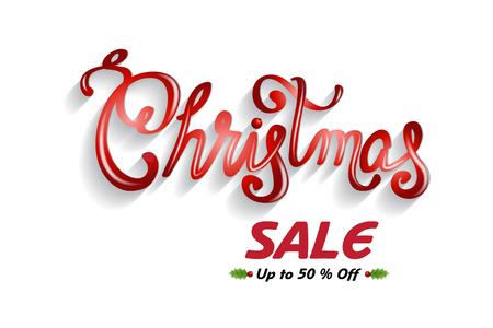 Christmas sales text card