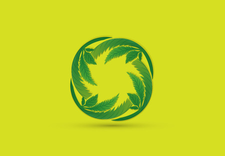 Cannabis leafs logo vector 版權商用圖片 - 113696648