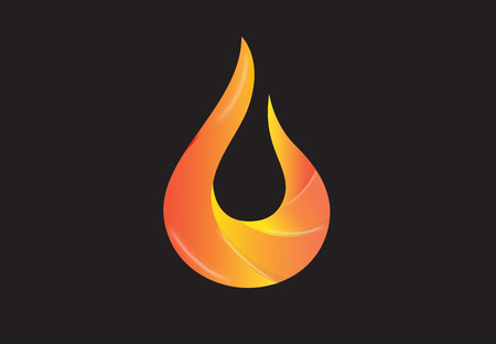 Flames Fire logo vector image