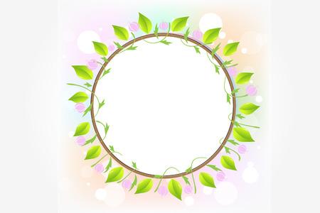 Blätter Ökologie Kreis Rahmen Vektorbild