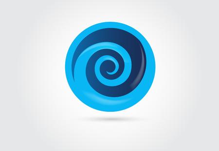Spiral wave beach logo vector image