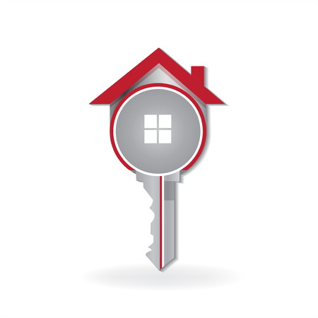 House key real estate symbol logo vector image Foto de archivo - 114970128