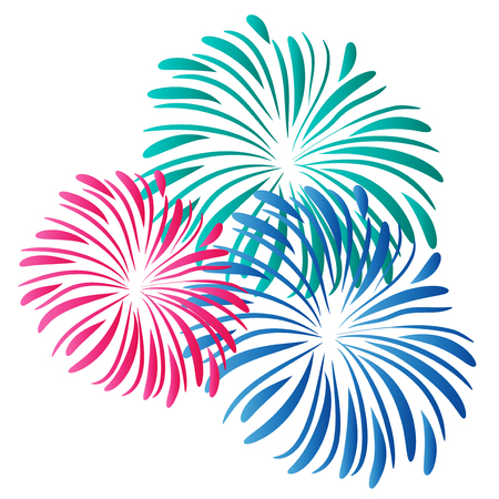 Fireworks isolated logo vector image