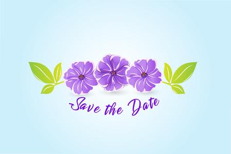 Flowers watercolor vector stock image design
