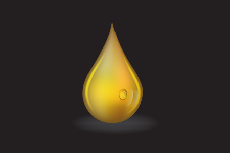 Oil drop stock vector logo design