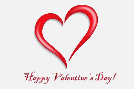 Happy valentines heart symbol logo