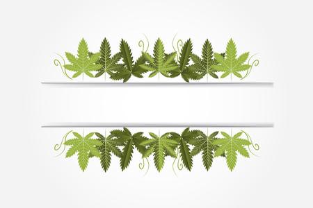 Marijuana Plant Banner Vector Image Design