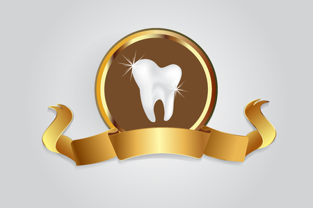 Dental care symbol vector image Stock fotó - 116783920