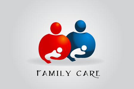 Family care vector image design