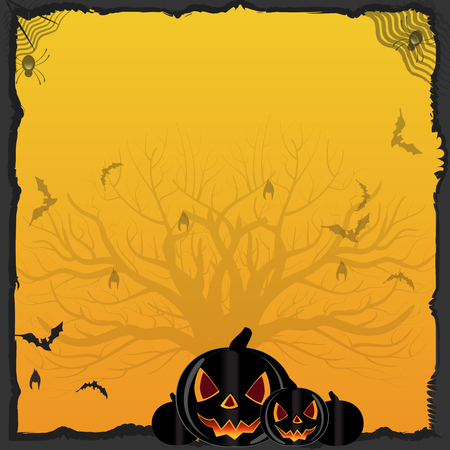 Orange Halloween Background Stock Illustration