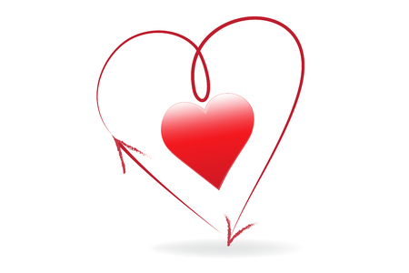 Heart love arrow symbol vector design