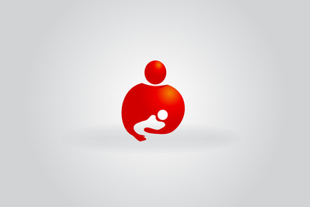 Mother and child symbol of love vector image design