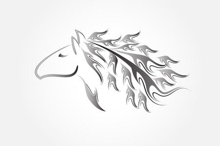 Logo horse racing symbol vector image design