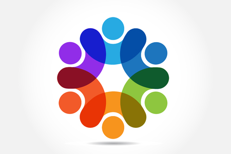 People business unity vector design