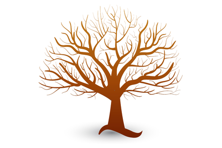 Tree element for your own design vector Illustration