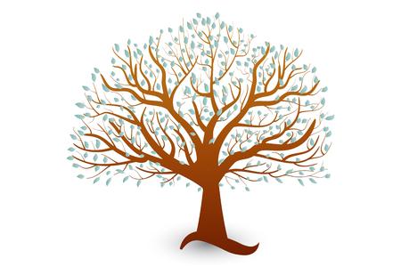 Plantilla de símbolo de vector de árbol