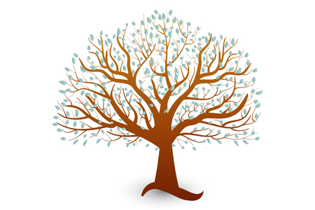 Tree Vector Symbol Template Illustration