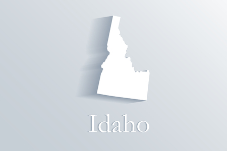 Idaho map white vector image design illustration