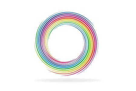 Spiral waves colors palette vector image 向量圖像