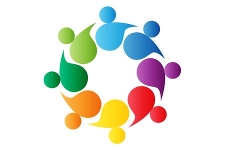 community teamwork people colorful vector design Ilustração
