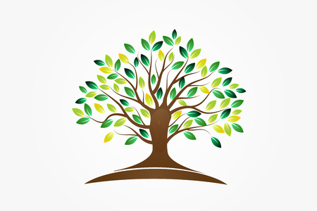 Baumsymbol des Lebensvektorbilddesigns