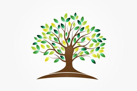 Symbole d'arbre de conception d'image vectorielle de vie