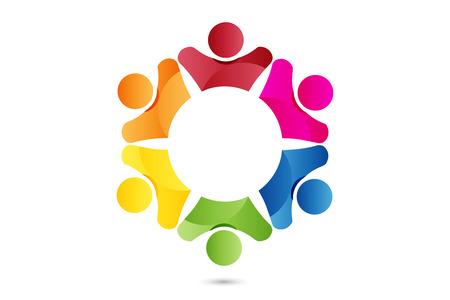 Logo teamwork partners id card business people
