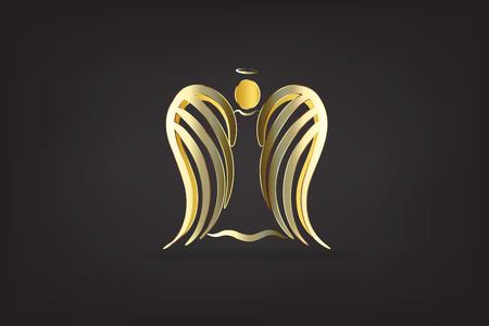 Angel gold skech vector image design