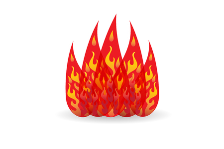 Fire icon image design illustration