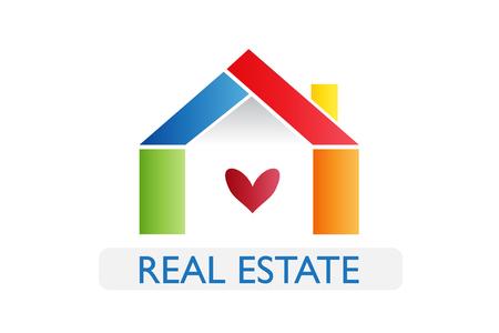 Real estate house logo illustration