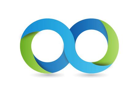 Infinity symbol icon vector image design