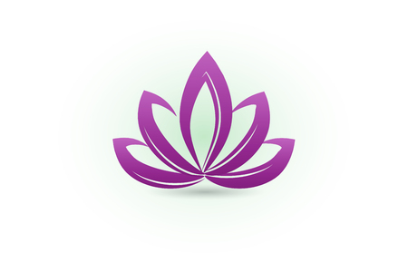Lotus flower identity card business illustration