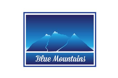 Mountains framed background vector image design