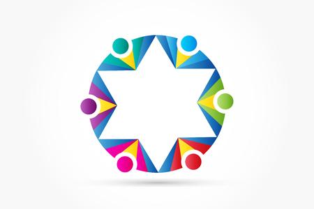 Logo teamwork business people
