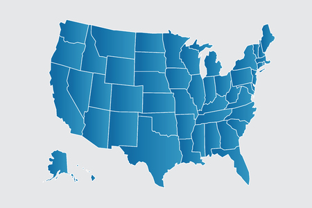 Vector USA map illustration icon image Illustration