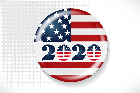 2020 Election Day Pin Flag Vector Image Ilustrace
