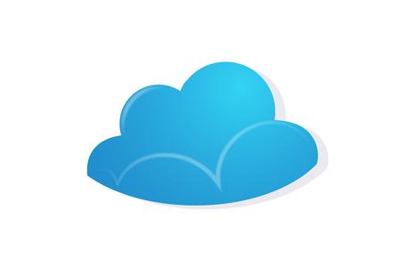 Cloud vector image Ilustração