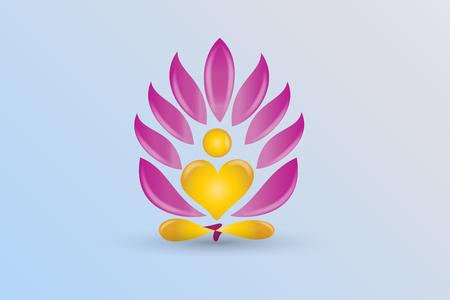 yoga lotus flower vector image Illustration