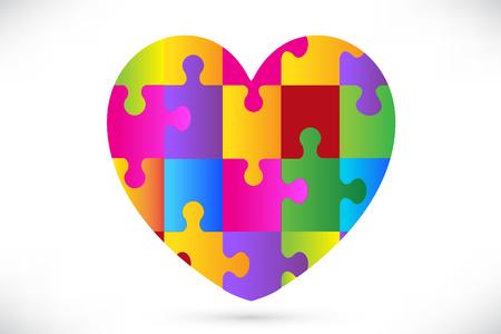 Autism heart symbol vector design Ilustrace