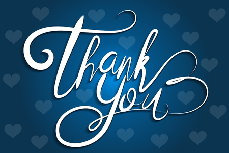 Thank You Greeting Card lettering vector image  イラスト・ベクター素材