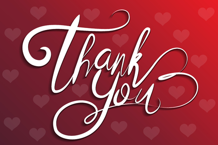 Thank You Greeting Card lettering vector image 일러스트
