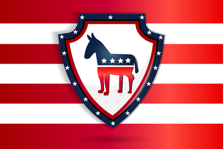 Shield with USA symbol vector image