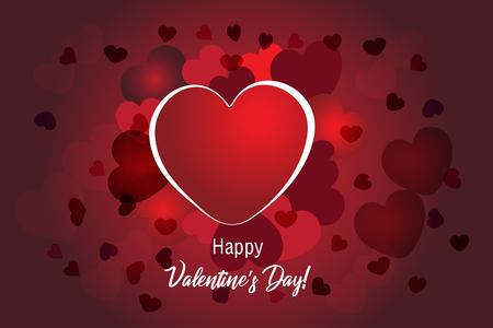 Valentines love heart banner background vector design Illustration