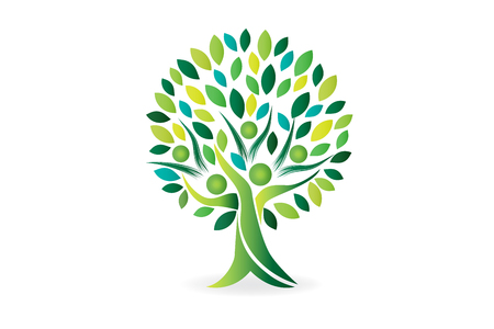 tree people ecology symbol vector image  イラスト・ベクター素材